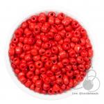 ลูกปัดเม็ดทราย 6/0 โทนด้าน สีแดง (15 กรัม)