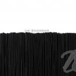 ยางยืด เส้นกลม 1.5มม. สีดำ (144 หลา)