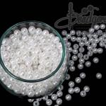 ลูกปัดมุกพลาสติก 6มิล (100 กรัม)