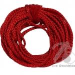 เชือกถัก 4มม. สีแดง (10 หลา)