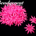 ดอกพิกุลพลาสติก 35มม. สีชมพู (10 กรัม)