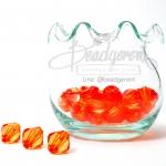 คริสตัลพลาสติก 10มม. สีส้ม (100 กรัม)