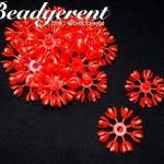 ดอกมะลิบาน ไซส์เล็ก 35มม. สีแดง (100 กรัม)