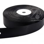 ริบบิ้น 25มม. ผ้าซาติน สีดำ (50 หลา)