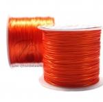 ไหมยืด เส้นแบน สีส้ม (100 หลา)