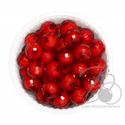 ลูกปัดสาคู 10มม. สีแดง (500 กรัม)