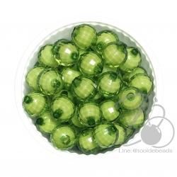 ลูกปัดสาคู 10มม. สีเขียวใบไม้ (500 กรัม)