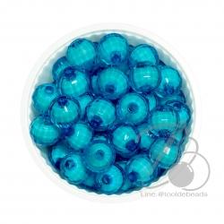 ลูกปีดสาคู 10มม. สีฟ้าเข้ม (500 กรัม)