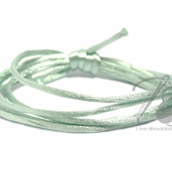 เชือกหางหนู 2มม. สีเขียวมิ้นท์ (1 หลา)