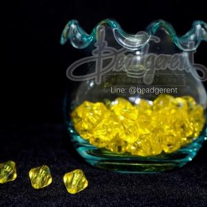 คริสตัลพลาสติก 8มม. สีเหลืองดอกคูน (500 กรัม)