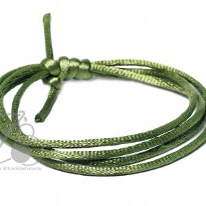 เชือกหางหนู 2มม. สีเขียวใบไม้ (1 หลา)