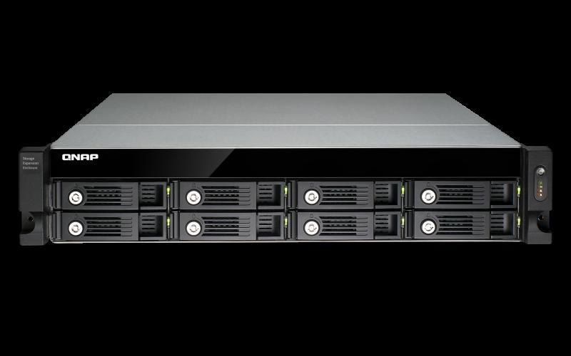 QNAP UX-800U-RP-US Economical Raid Expansion Enclosure for Turbo NAS UX-800U-RP-Us